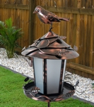 Bird Feed & Solar Lit Garden Light