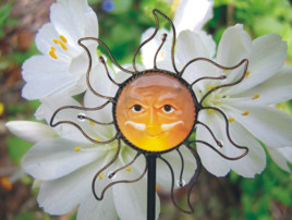 Large Color Sun Solar Garden Stake Light
